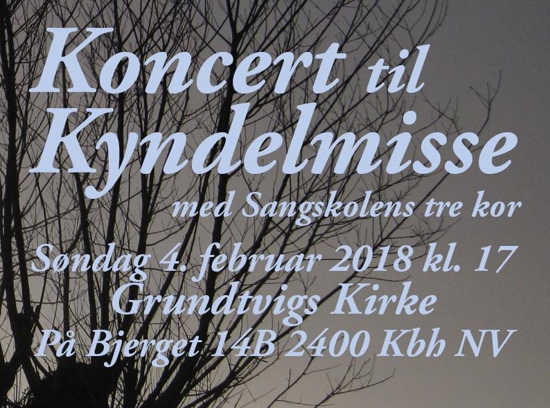 Kyndelmissekoncert 4. februar 2018