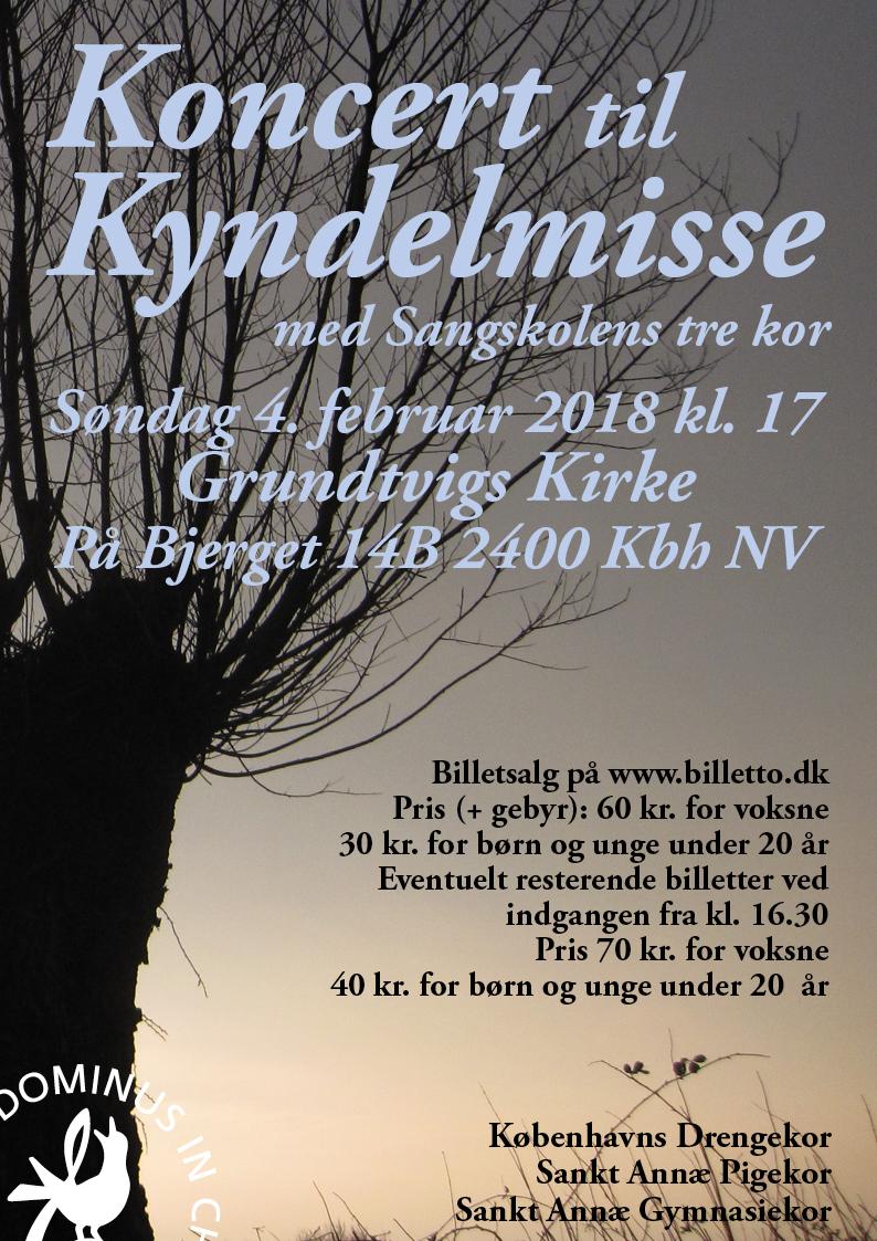 Koncert til Kyndelmisse 4. febr. 2018